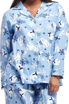Flannel Polar Bear Plus Size Pajama Set