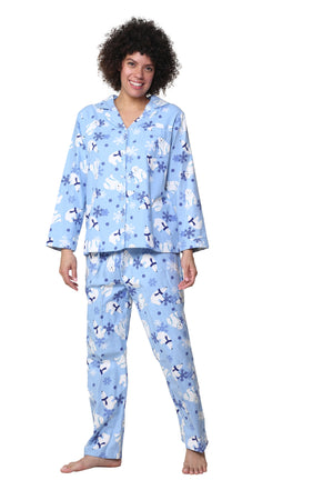 Flannel Polar Bear Pajama Set