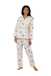 Flannel Cat Print Pajama Set