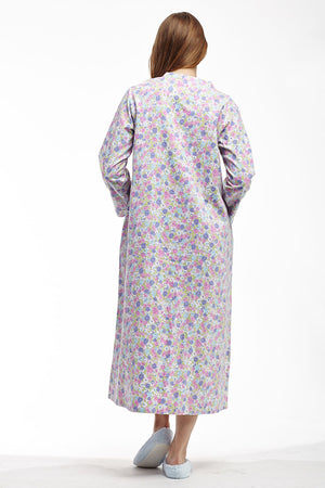 Flannel Floral Night Gown