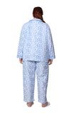 Plus Size Flannel Long Sleeve Pajama Set