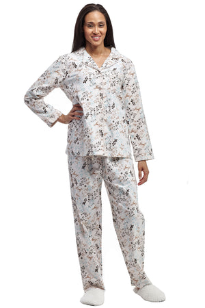 Flannel Long Sleeve Pajama Set
