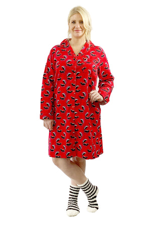 Plus Size Whimsical Skunk Flannel Night Shirt