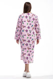 La Cera Hummingbird Print Night Shirt
