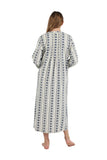 Plus Size Printed Flannel Nightgown With Release Pleats