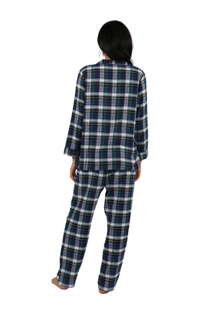 100% Cotton Yarn Dyed Plaid Flannel Pajama Set