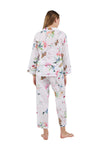 La Cera Long Sleeve Floral Pajama Set