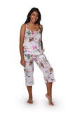 White Floral Cotton Pajamas