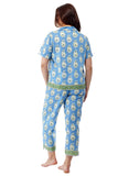 100% Cotton Blue Floral Pajamas