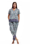 100% Cotton Ivory Floral PJs