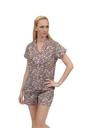 Cheetah Print Plus Size Pajamas