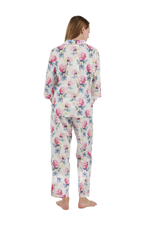 100% Cotton Long Sleeve Floral Pajama Set