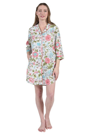 Plus Size La Cera Long Sleeve Sleep Shirt