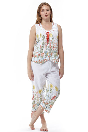 100% Cotton Yellow Floral PJs