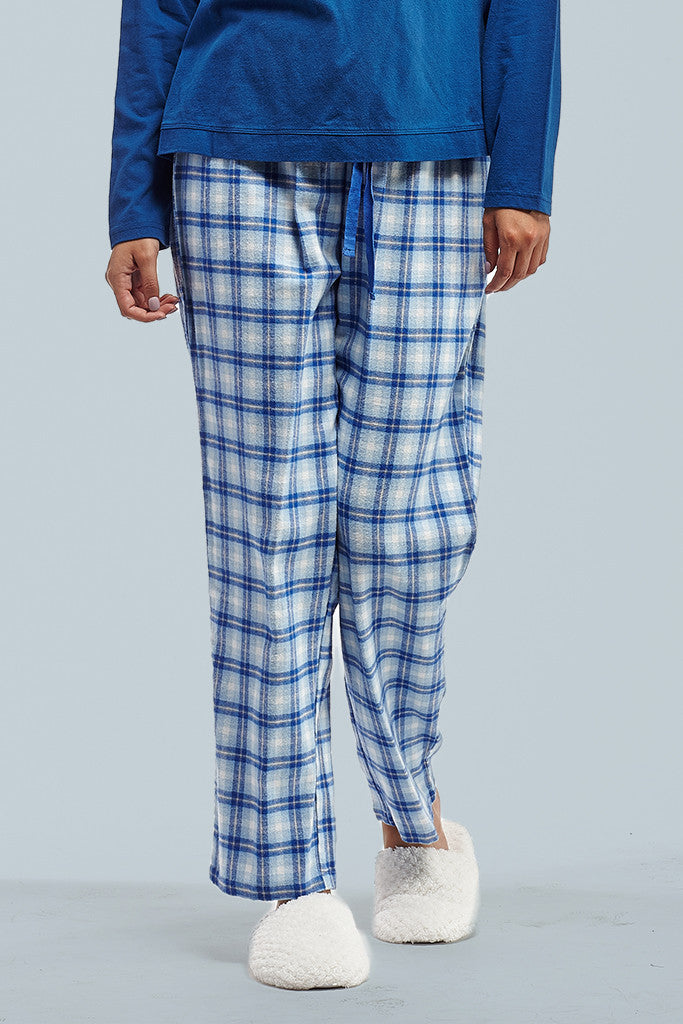 La Cera Blue Plaid Pajama Set - La Cera™ - 3