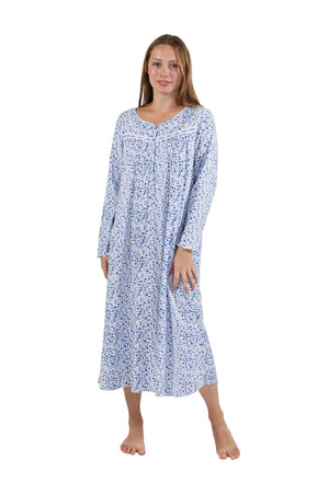Floral Button Up Night Gown