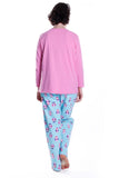 Owl Print Plus Size Pajama Set