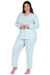 The Comfort Collection Plus Size Snap PJ Set