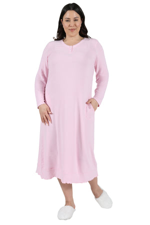 The Comfort Collection Plus Size Snap Gown