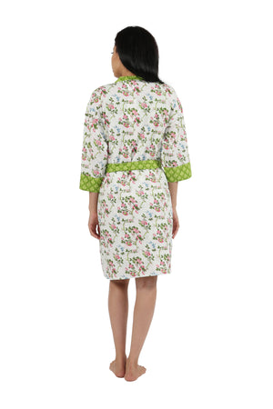 Floral Cotton Robe