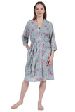 La Cera Cotton Wrap Robe
