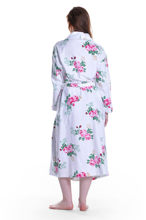 Flannel Floral Plus Size Robe
