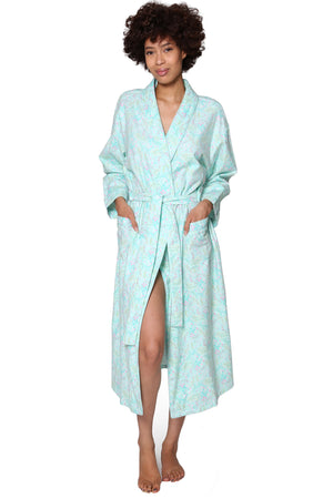 Flannel Floral Robe