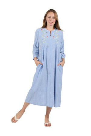 100% Cotton Zip Front Robe