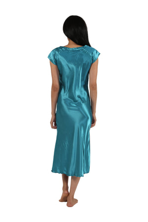 Satin Cap Sleeve Gown