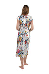 Satin Floral Multi Colored Gown