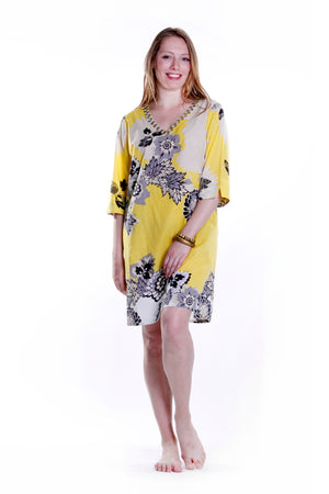 100% Cotton Printed Cover Up