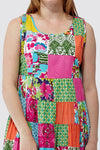 La Cera Multicolored Patchwork Dress - La Cera™ - 2