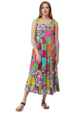 La Cera Multicolored Patchwork Dress