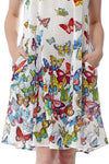 La Cera Sleeveless Butterfly Printed Dress - La Cera™ - 2