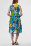 La Cera Short Multicolored Patchwork Dress - La Cera™ - 3