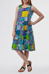La Cera Short Multicolored Patchwork Dress - La Cera™ - 1