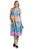 La Cera Watercolor Patchwork Dress