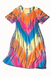 La Cera Tie-Dye Short Sleeve Dress - La Cera™ - 3