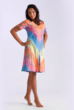 La Cera Tie-Dye Short Sleeve Dress - La Cera™ - 1