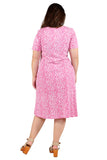 La Cera Fuchsia Plus Size A-Line Knit Dress