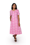 La Cera Pink Plus Size A-Line Knit Dress