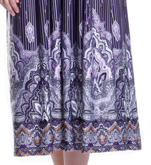 La Cera Border Print Sleeveless Printed Maxi Dress