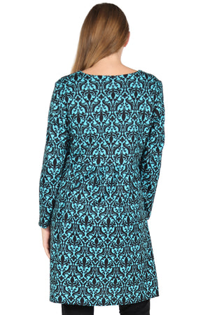 La Cera Paisely Pullover Tunic Top