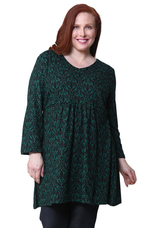La Cera Plus Size Pullover Tunic Top