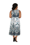 La Cera Plus Size Paisley Printed Sleeveless Long Dress