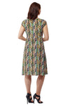 La Cera Abstract Print Sleeveless Dress