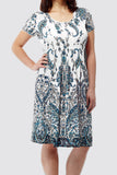 La Cera Short Sleeve Paisley Printed Dress - La Cera™ - 3