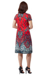 La Cera Paisley Printed Short Sleeve Dress