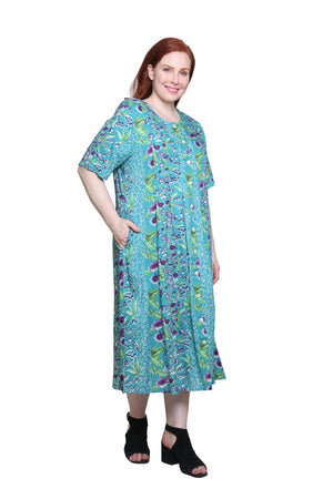 Plus Size La Cera Button Front Short Sleeve Dress