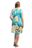 La Cera V-Neck Floral Sleeveless Short Dress